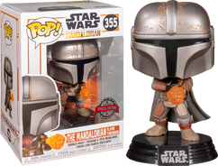 Star Wars: The Mandalorian - The Mandalorian with Wrist Rocket Pop! Vinyl Figure