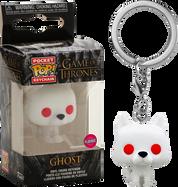 Game of Thrones - Ghost Flocked Pocket Pop! Vinyl Keychain