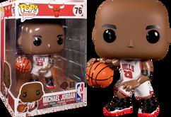 "NBA Basketball - Michael Jordan White Jersey 10"" Pop! Vinyl Figure"