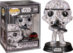 Star Wars - Stormtrooper Futura Pop! Vinyl Figure with Pop! Protector