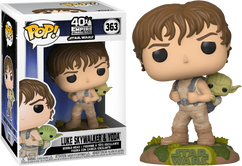 Star Wars Episode V: The Empire Strikes Back - Luke Skywalker Training with Yoda Pop! Vinyl Figure