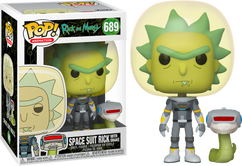 Rick and Morty - Rick in Space Suit with Snake Pop! Vinyl Figure