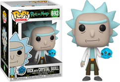 Rick and Morty - Rick with Crystal Skull Pop! Vinyl Figure