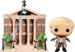 Back To The Future - Dr. Emmett Brown with Clock Tower Pop! Town Vinyl Figure