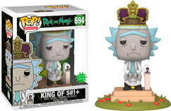 Rick and Morty - King of $#!+ with Sound Deluxe Pop! Vinyl Figure