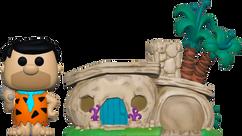 The Flintstones - Fred Flintstone with Flintstone's Home Pop! Town Vinyl Figure