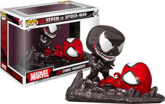 Spider-Man - Venom vs Spider-Man Metallic Comic Moments Pop! Vinyl Figure 2-Pack