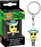 Rick and Morty - Mr. Poopy Butthole Auctioneer Pocket Pop! Vinyl Keychain