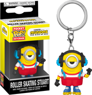 Minions 2: The Rise of Gru - Roller Skating Stuart Pocket Pop! Vinyl Keychain