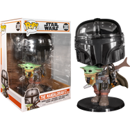 "Star Wars: The Mandalorian – The Mandalorian Chrome Armour with The Child 10"" Pop! Vinyl Figure"