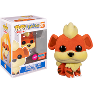Pokemon - Growlithe Flocked Pop! Vinyl Figure (2020 Fall Convention Exclusive)