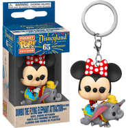 Disneyland: 65th Anniversary - Minnie Mouse on Dumbo The Flying Elephant Ride Pocket Pop! Vinyl Keychain