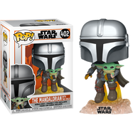 Star Wars: The Mandalorian - The Mandalorian with The Child (Baby Yoda) Flying Pop! Vinyl Figure