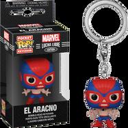 Marvel: Lucha Libre Edition - El Aracno Spider-Man Pocket Pop! Vinyl Keychain