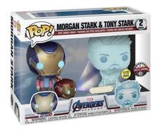 Avengers 4: Endgame - Hologram Tony Stark & Morgan with Helmet Pop! Vinyl Figure 2-Pack