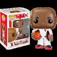 NBA Basketball - Michael Jordan Chicago Bulls White Warm-Up Suit Pop! Vinyl Figure