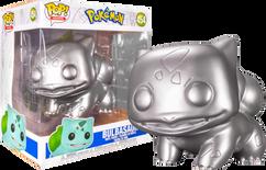 "Pokemon - Bulbasaur 25th Anniversary Siver Metallic 10"" Pop! Vinyl Figure"