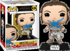 Star Wars Episode IX: The Rise Of Skywalker - Rey with Two Lightsabers Pop! Vinyl Figure