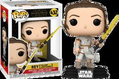 Star Wars Episode IX: The Rise Of Skywalker - Rey with Yellow Lightsaber Pop! Vinyl Figure