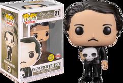 Edgar Allan Poe - Edgar Allan Poe with Skull Glow in the Dark Pop! Vinyl Figure