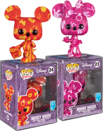 Disney - Mickey Mouse & Minnie Mouse Artist Series Pop! Vinyl Figure with Pop! Protector Bundle (Set of 2)