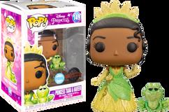 The Princess and The Frog - Princess Tiana and Naveen Glitter Pop! Vinyl Figure