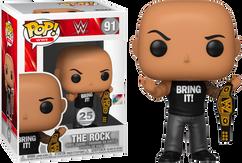 WWE - The Rock with Championship Belt Pop! Vinyl Figure