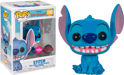 Lilo & Stitch - Stitch Smiling Seated Flocked Pop! Vinyl Figure
