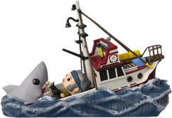 Jaws - Great White Shark Eating Quint & Orca Boat Movie Moments Pop! Vinyl Figure