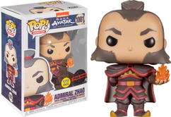 Avatar: The Last Airbender - Admiral Zhao with Fireball Glow in the Dark Pop! Vinyl Figure