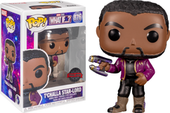 Marvel: What If…? - T'Challla Star-Lord Unmasked Pop! Vinyl Figure