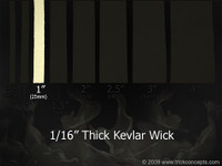 "1"" (25mm) Wide - 1/16"" (1.5mm) Thick Kevlar Wick"
