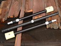 Fire Weighted Contact Breakdown Collapsible Staff  - Custom