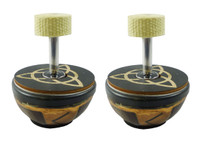 "Pair of 3"" Fire Palm Torches"