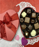 Small assorted confections red heart box