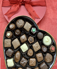 Large Red Heart Box with assorted confections
