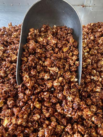 German Chocolate Fudge Popcorn
