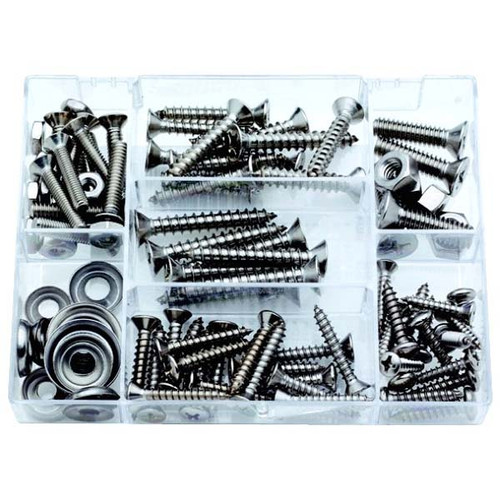 Attwood 100 Piece S.S. Fastener Assortment Kit