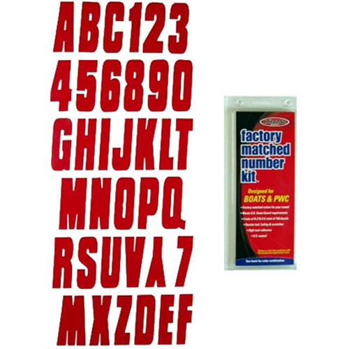 """3"""" Boat Letter and Number Kit - Red"""