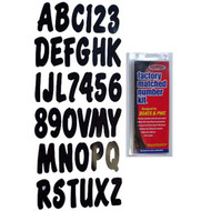 "3"" Boat Letter and Number Kit - Black"
