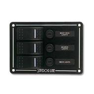 Sea Dog Three Rocker Switch Panel
