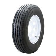 """Karrier 225/75D15 6 Lug 15"""" Radial Trailer Tire - White Spoke"""