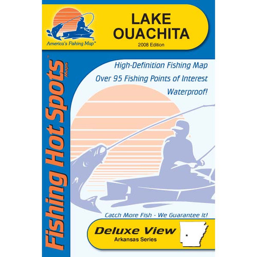Lake Ouachita Fishing Map