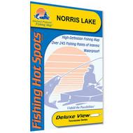 Norris Lake Fishing Map
