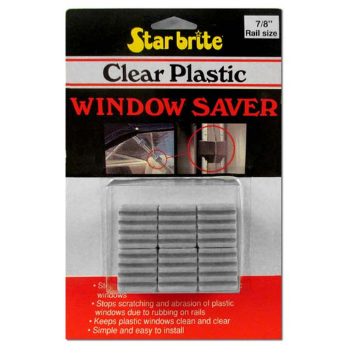 "Starbrite Clear Plastic Window Saver 7-8"" Tubing"