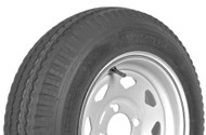 "Karrier 215/75R14 5 Lug 14"" Radial Trailer Tire - White Spoke"