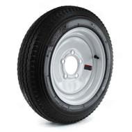"Loadstar 480-12 5 Lug 12"" Bias Trailer Tire - White Load Range B"