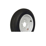 "Loadstar 530-12 5 Lug 12"" Bias Trailer Tire - White Load Range C"
