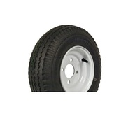 "Loadstar 570-8 4 Lug 8"" Bias Trailer Tire - White Load Range B"