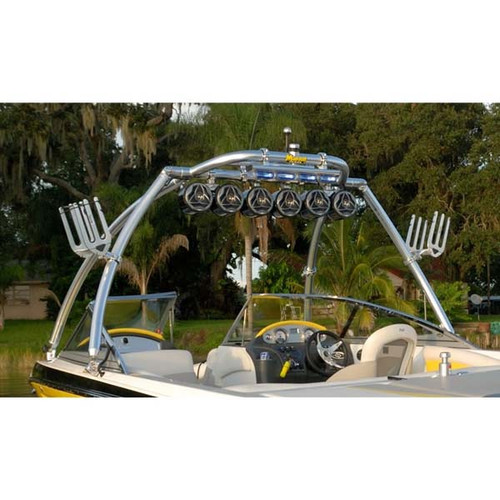 """Monster Tower MT1 2.5"""" Polished Wakeboard Tower"""